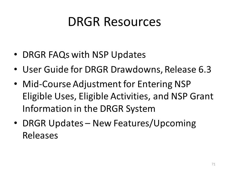 For more information, email DRGR_Help@hud.gov.