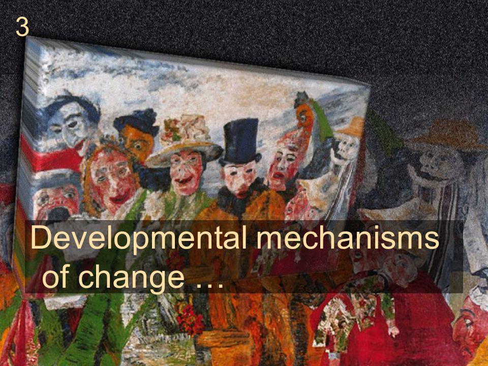 Developmental mechanisms of change … 3