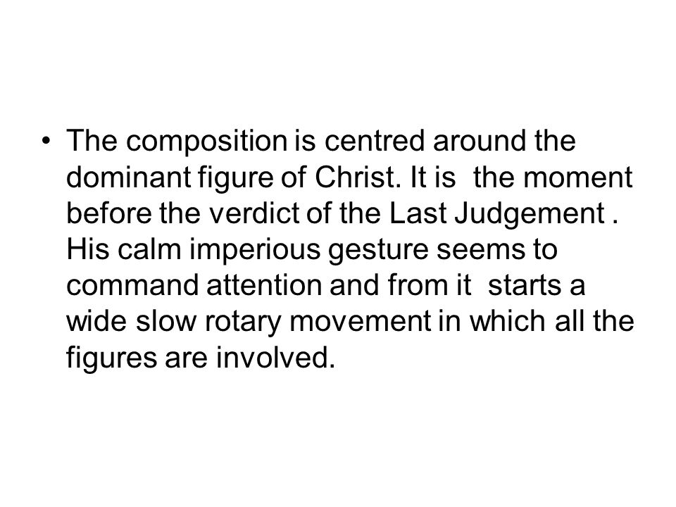 The composition is centred around the dominant figure of Christ.