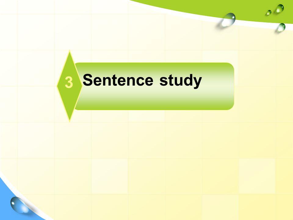 Sentence study 3