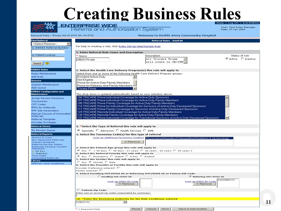 11 Creating Business Rules