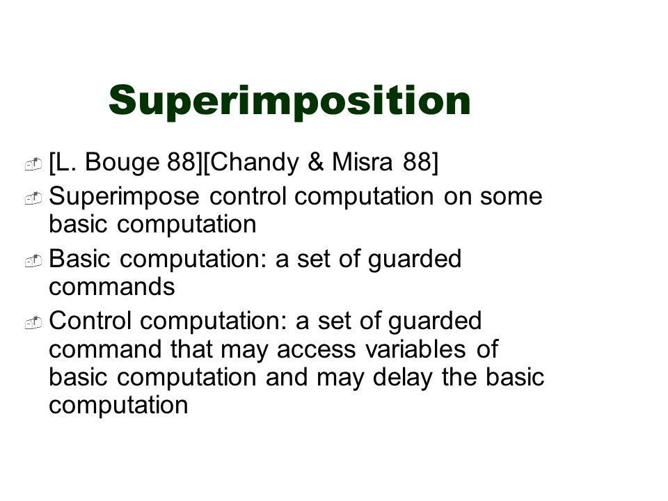 Superimposition  [L.
