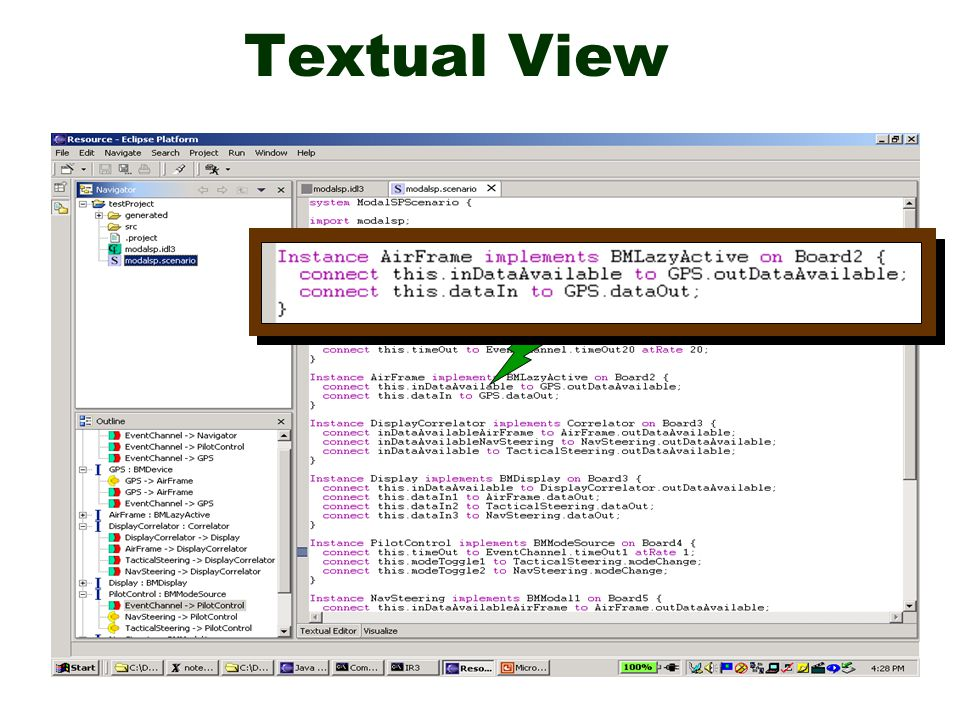Textual View