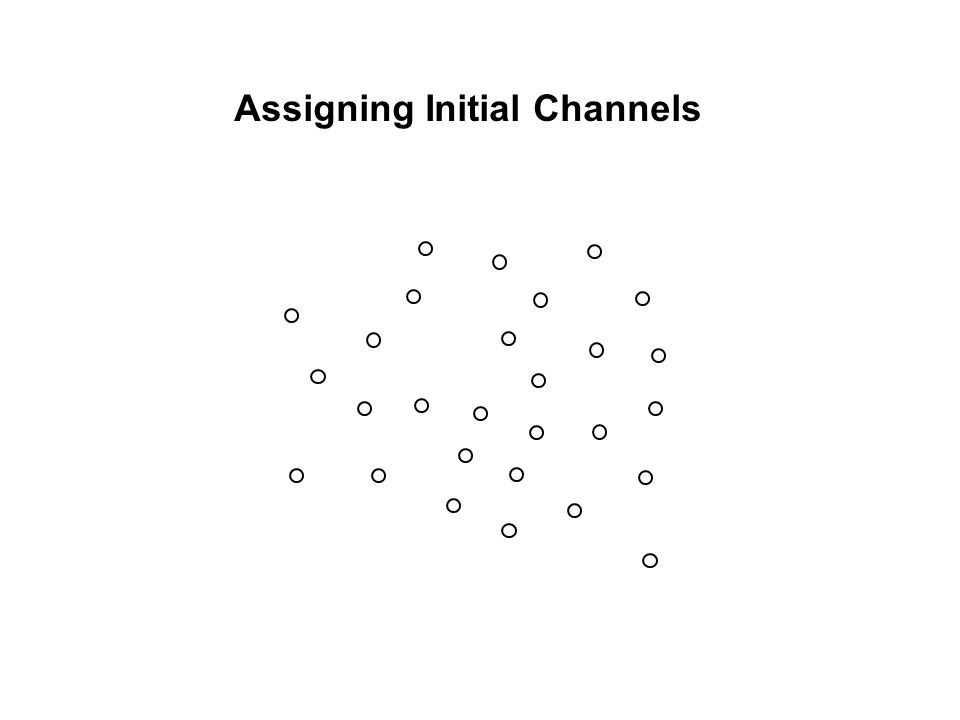 Assigning Initial Channels