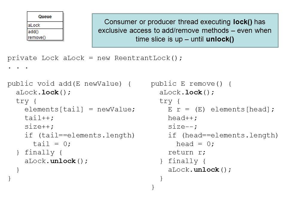 private Lock aLock = new ReentrantLock();...