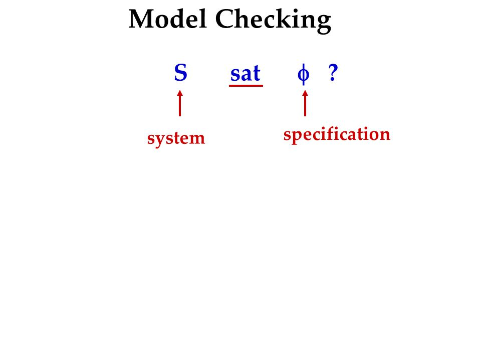 Model Checking S sat  system specification