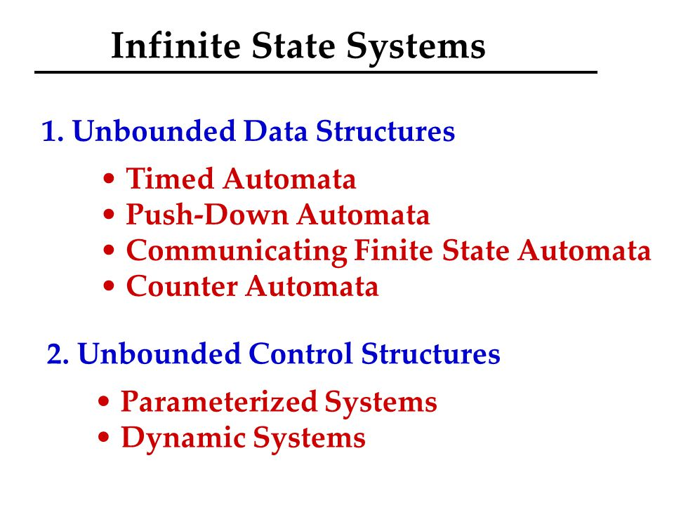 Infinite State Systems 1.