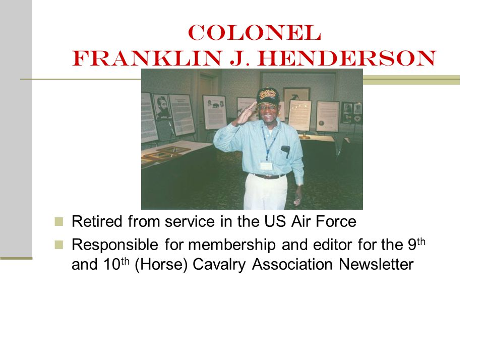 Colonel franklin j.