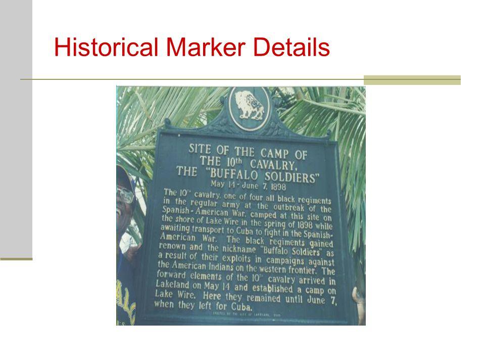Historical Marker Details