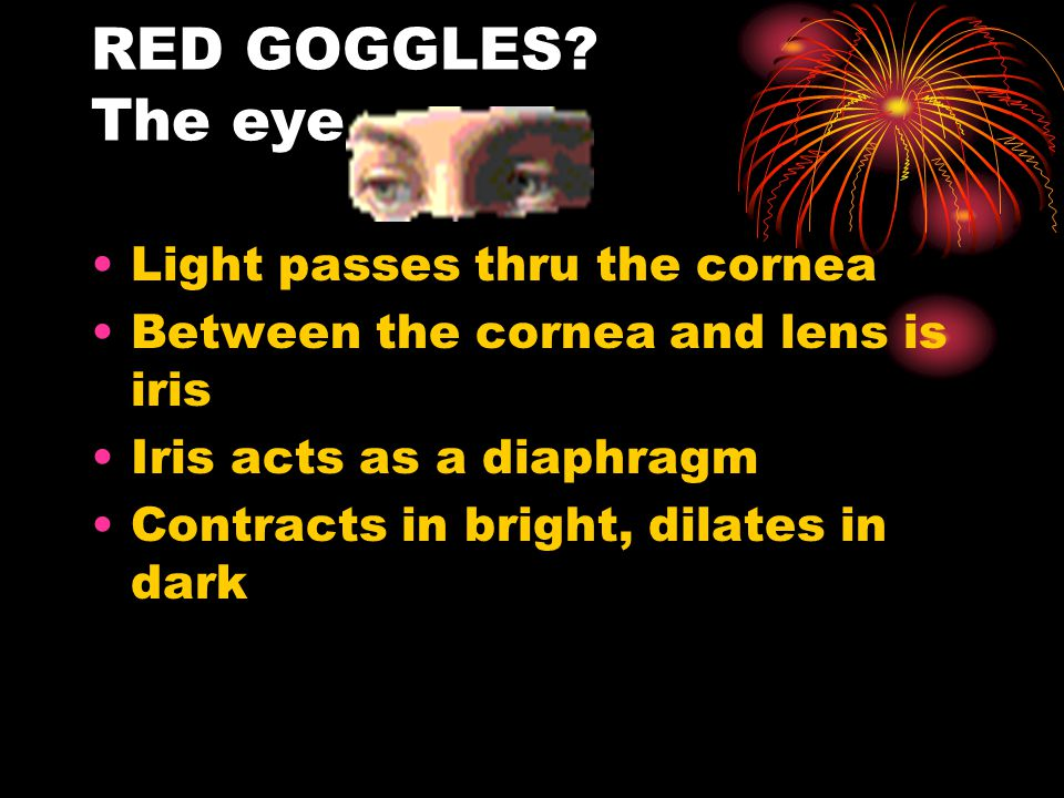 Light hits lens which focuses the light onto the retina where the cones and rods await Cones- central Rods - periphery