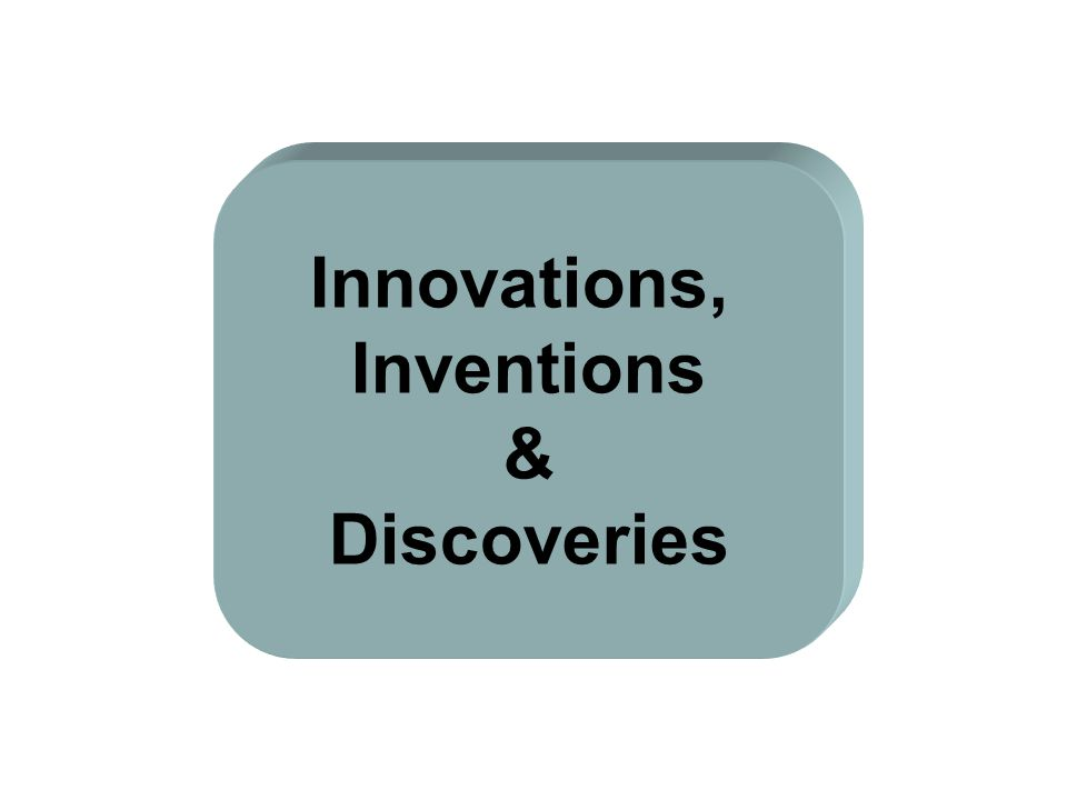 Innovations, Inventions & Discoveries