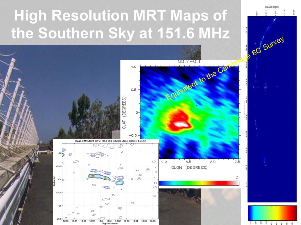 High Resolution MRT Maps of the Southern Sky at 151.6 MHz Equivalent to the Cambridge 6C Survey