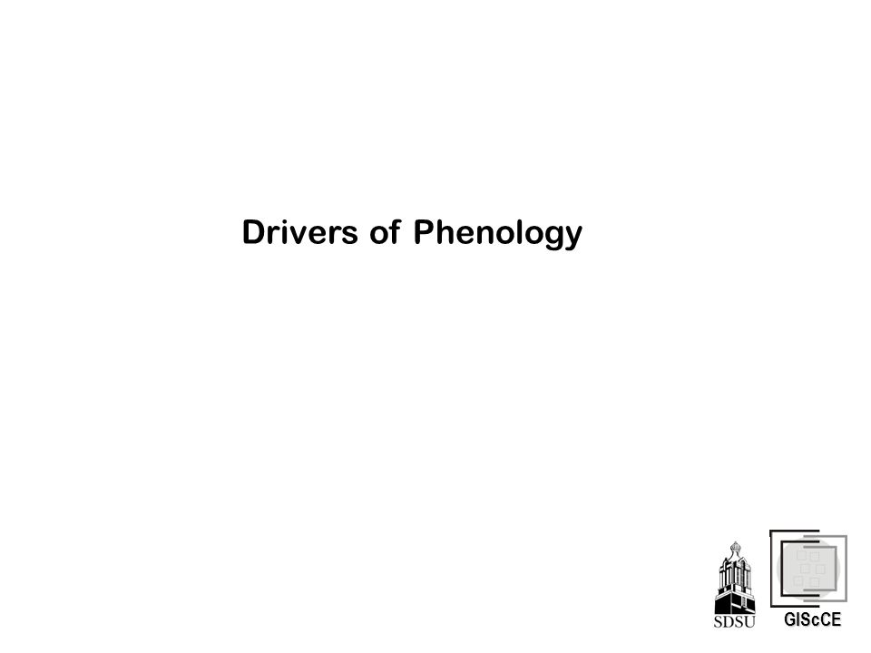 GIScCE Drivers of Phenology