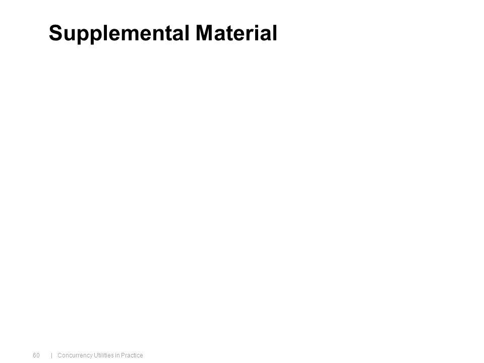 | Concurrency Utilities in Practice 60 Supplemental Material