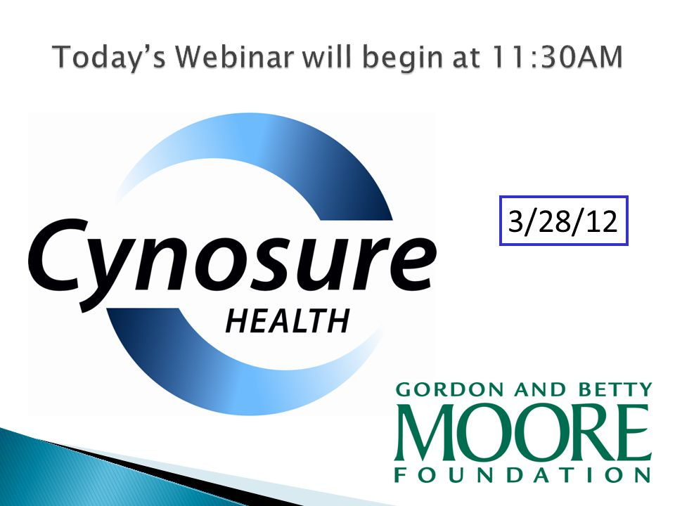 Today's Webinar will begin at 11:30AM 3/28/12