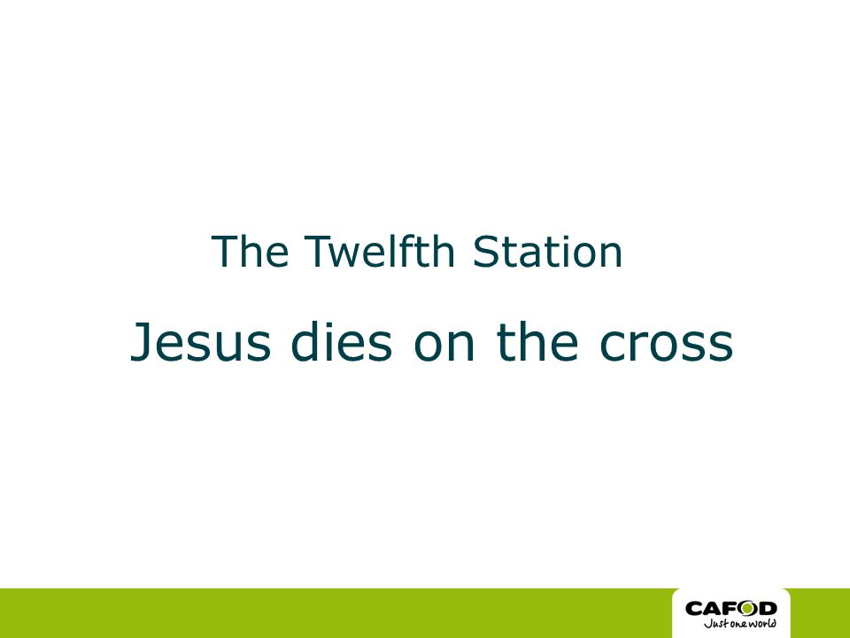 The Twelfth Station Jesus dies on the cross