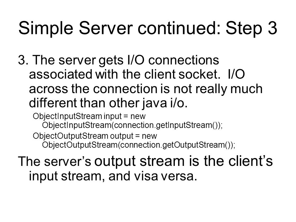 Threaded client/server code links below and in slide notes http://employees.oneonta.edu/higgindm/internet%20programming/Ti cTacToeServerTest.htmlhttp://employees.oneonta.edu/higgindm/internet%20programming/Ti cTacToeServerTest.html http://employees.oneonta.edu/higgindm/internet%20programming/Ti cTacToeServer.htmlhttp://employees.oneonta.edu/higgindm/internet%20programming/Ti cTacToeServer.html http://employees.oneonta.edu/higgindm/internet%20programming/Ti cTacToeClient.htmlhttp://employees.oneonta.edu/higgindm/internet%20programming/Ti cTacToeClient.html http://employees.oneonta.edu/higgindm/internet%20programming/Ti cTacToeClientTest.htmlhttp://employees.oneonta.edu/higgindm/internet%20programming/Ti cTacToeClientTest.html