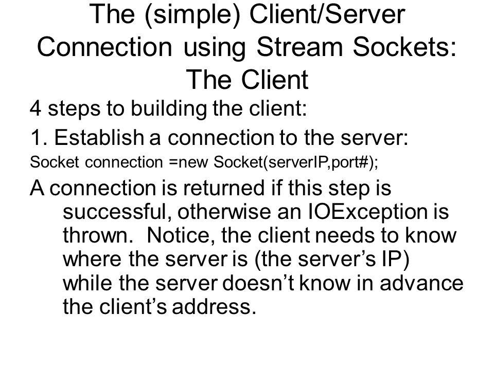 Client closes connection