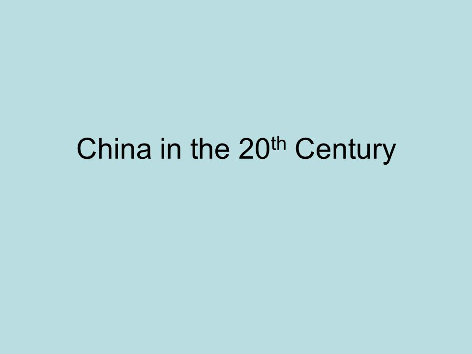 China is dominated by foreign powers in the 19th Century The Opium War (1839-1842) allows the British to force themselves into China.