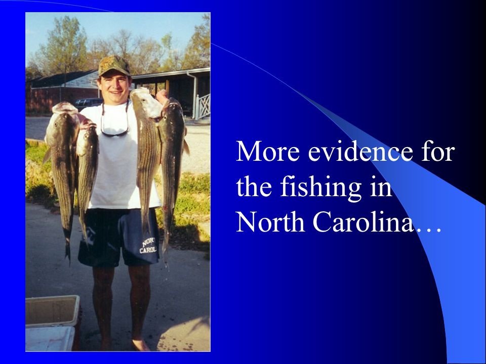 More evidence for the fishing in North Carolina…