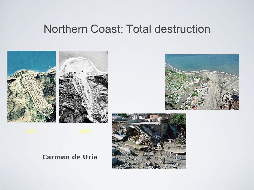 Northern Coast: Total destruction Carmen de Uria 1995 1999