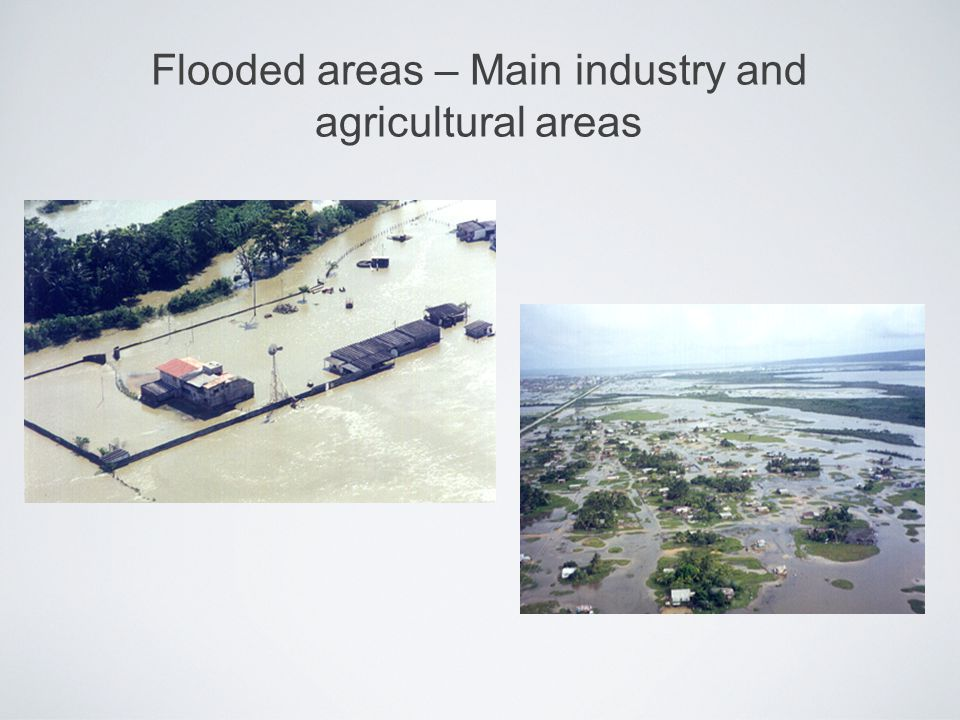 Flooded areas – Main industry and agricultural areas