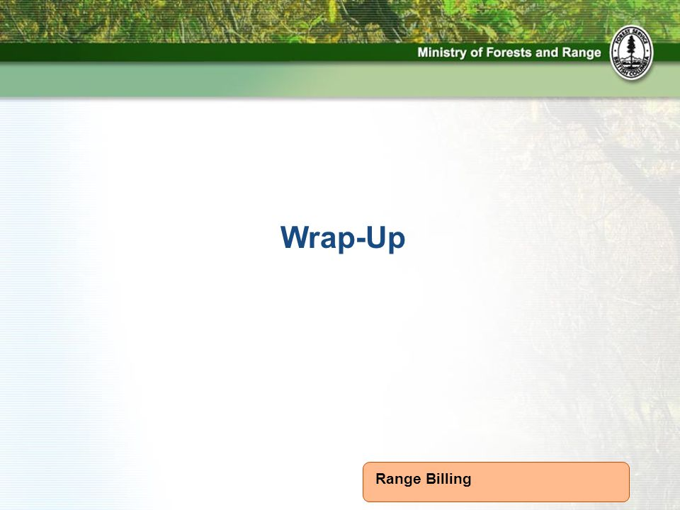 Range Billing Wrap-Up