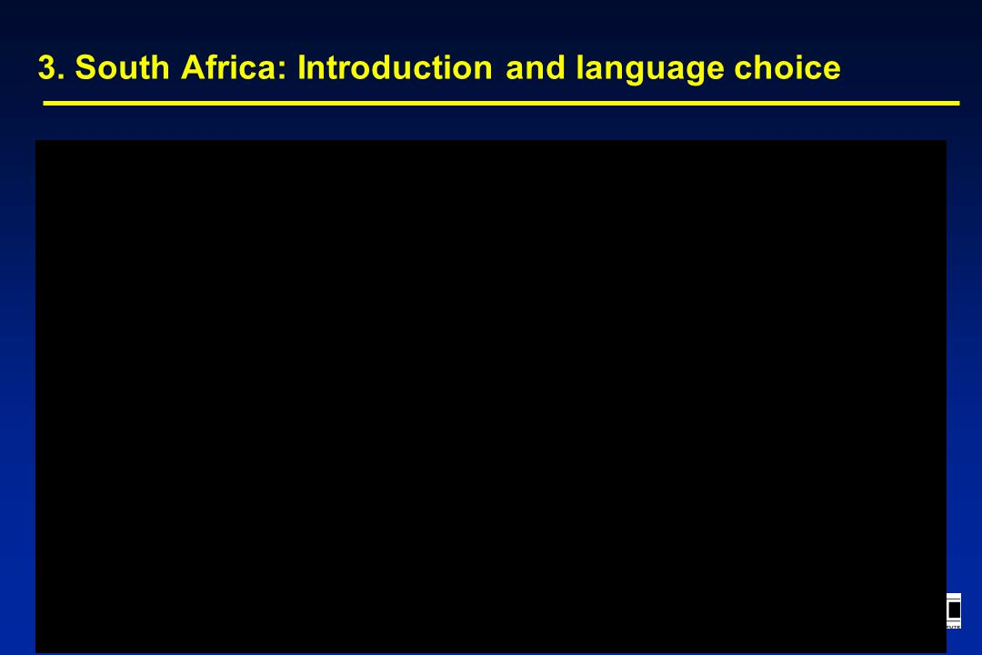 3. South Africa: Introduction and language choice