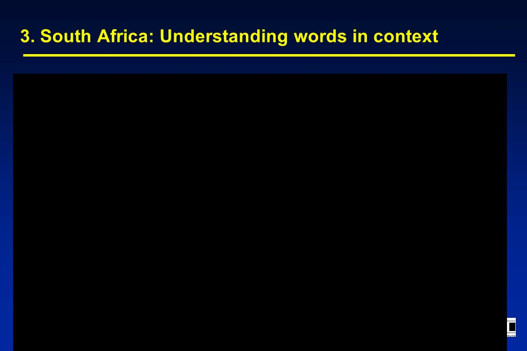 3. South Africa: Understanding words in context