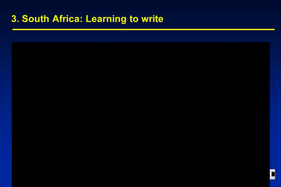 3. South Africa: Learning to write