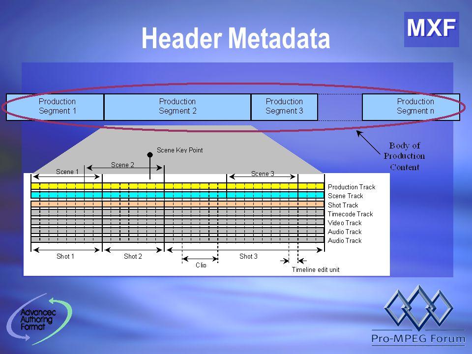 MXF Header Metadata