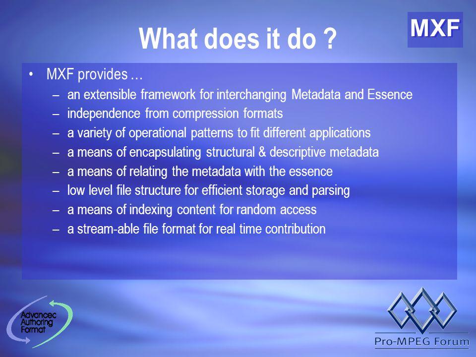 MXF How does it do it ?