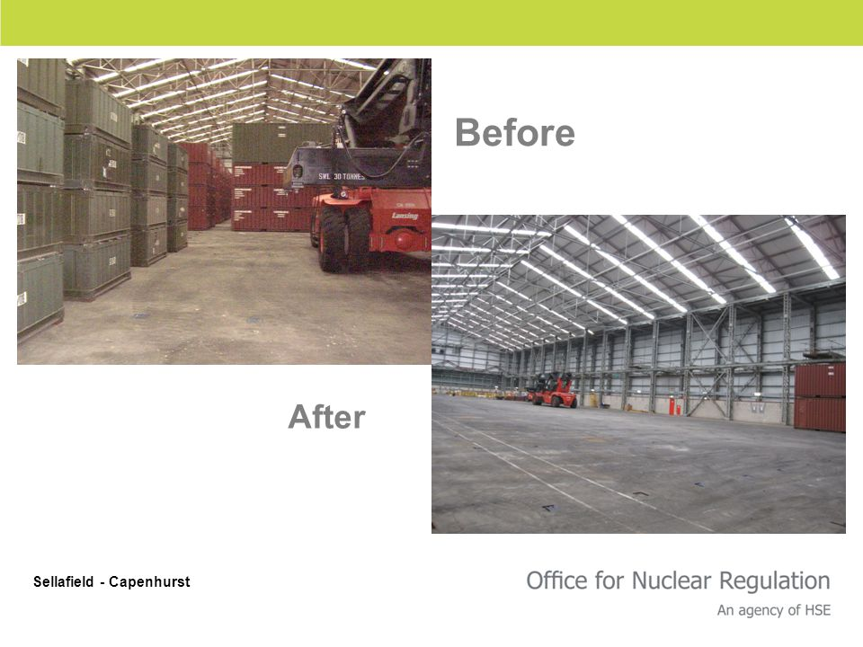 Before After Sellafield - Capenhurst