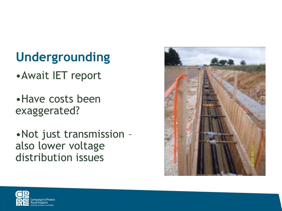 Undergrounding Await IET report Have costs been exaggerated.