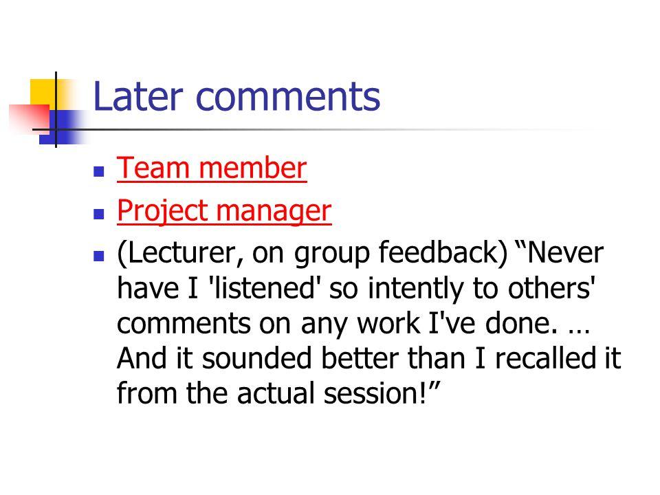 Main findings Students like audio feedback.