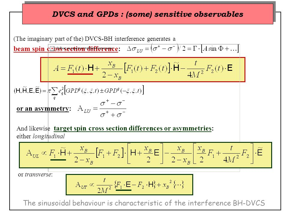 Q 2, x B, t ranges measured simultaneously.
