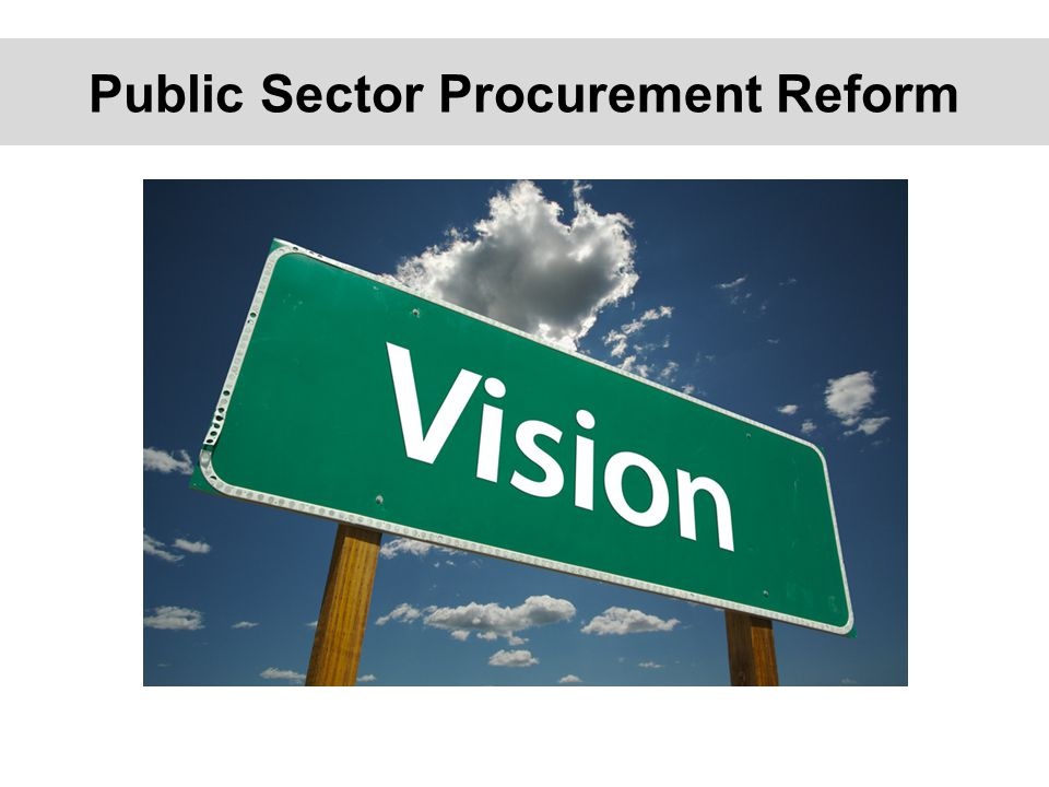 Public Sector Procurement Reform