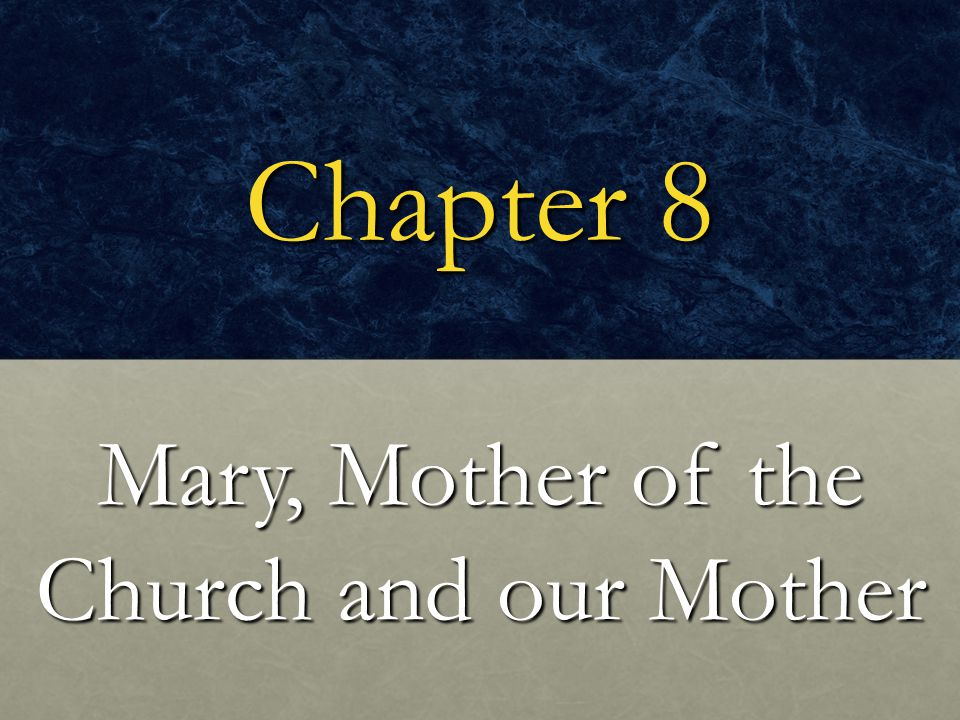 Focus Question Why is Mary always concerned for all Christians.