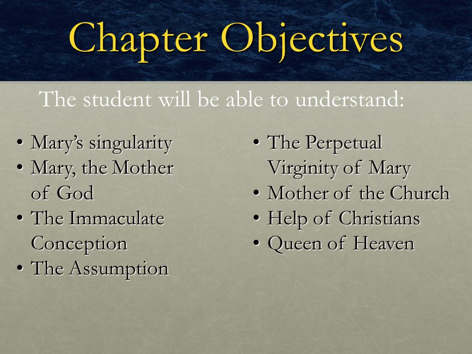 Focus Question How can we foster a close relationship with Mary.
