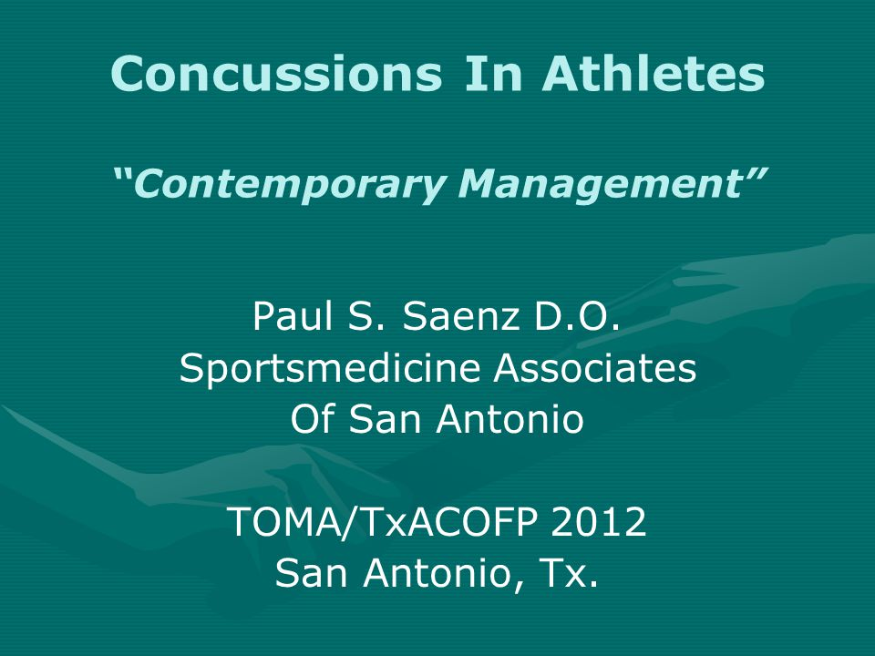 Standardized Assessment of Concussion (SAC)  Administered by athletic trainers and other medical personnel  Post-concussion score compared to pre- obtained baseline score