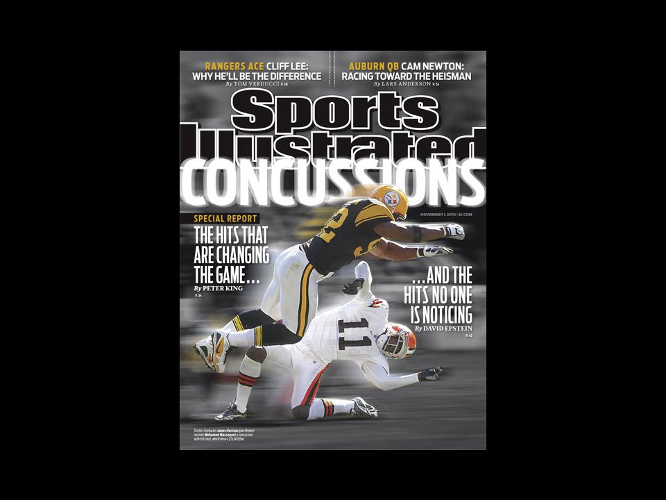 Sideline Evaluation of Head Injury Review of symptomsReview of symptoms Assess level of orientationAssess level of orientation Head and neck examHead and neck exam Detailed neurologic examDetailed neurologic exam Assess memory and cognitive functionAssess memory and cognitive function Athlete with S/S of concussion is removed from contestAthlete with S/S of concussion is removed from contest