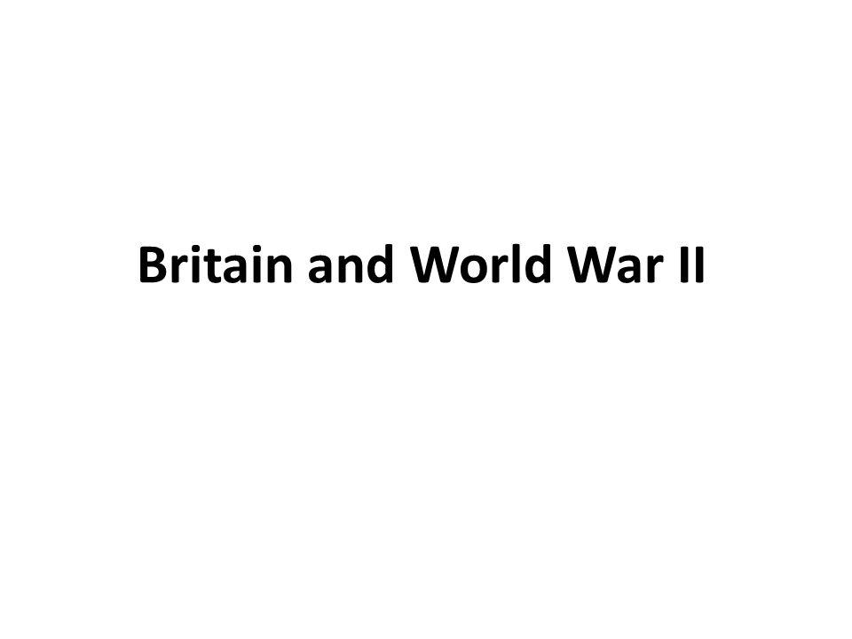 Britain and World War II