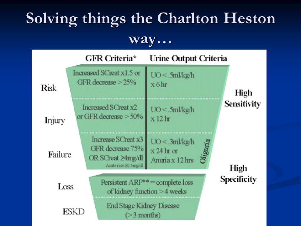 Solving things the Charlton Heston way…
