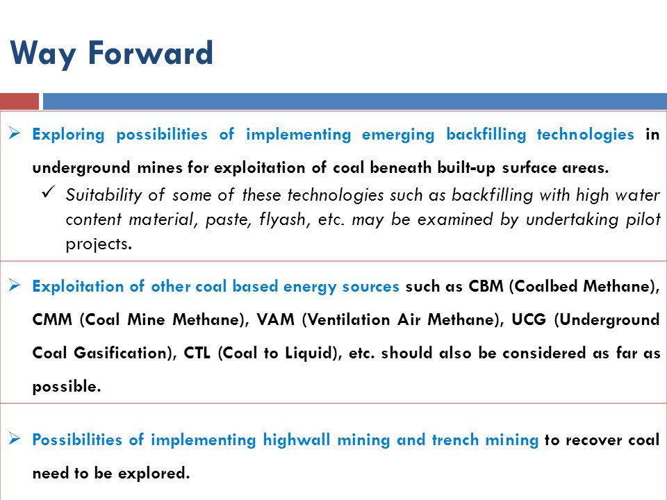  Exploring possibilities of implementing emerging backfilling technologies in underground mines for exploitation of coal beneath built-up surface are