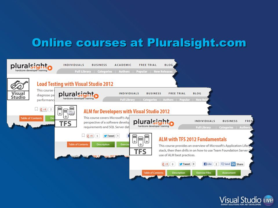 Online courses at Pluralsight.com