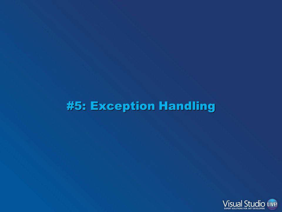 #5: Exception Handling