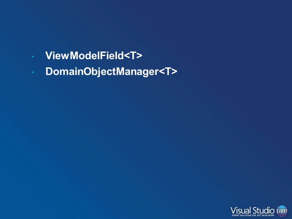 ViewModelField DomainObjectManager