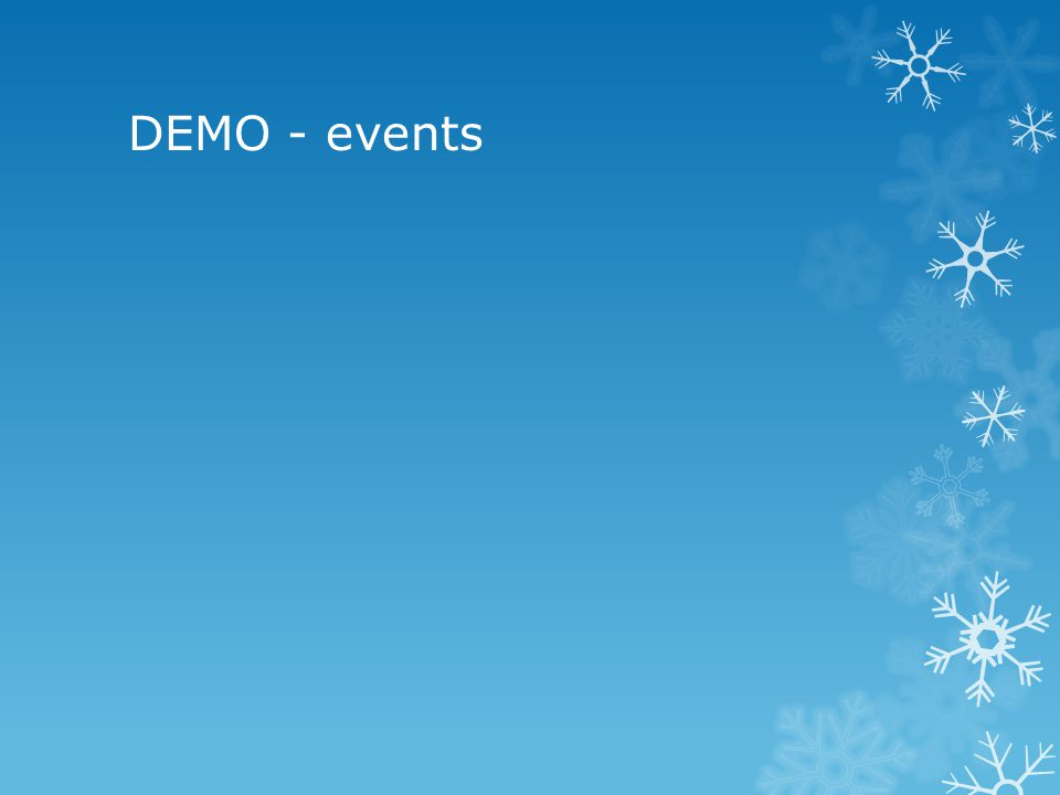 DEMO - events
