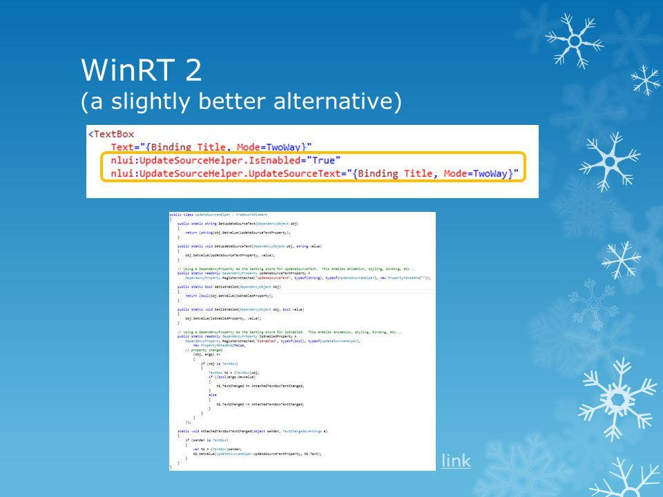 WinRT 2 (a slightly better alternative) link