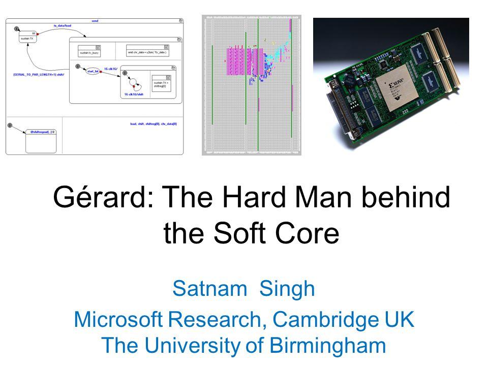 Gérard: The Hard Man behind the Soft Core Satnam Singh Microsoft Research, Cambridge UK The University of Birmingham
